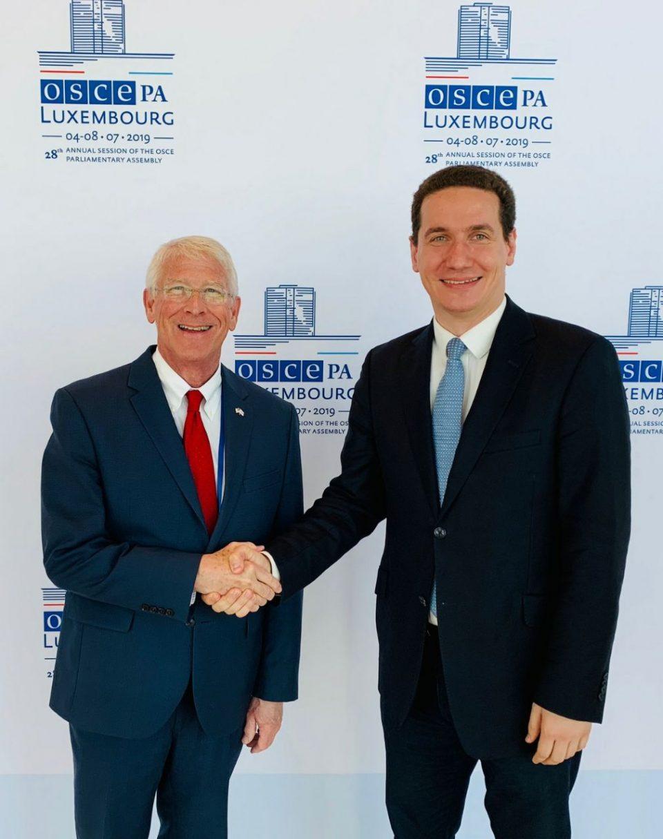 Ѓорчев на средба со шефот на делегацијата на Сенатот на САД во ОБСЕ