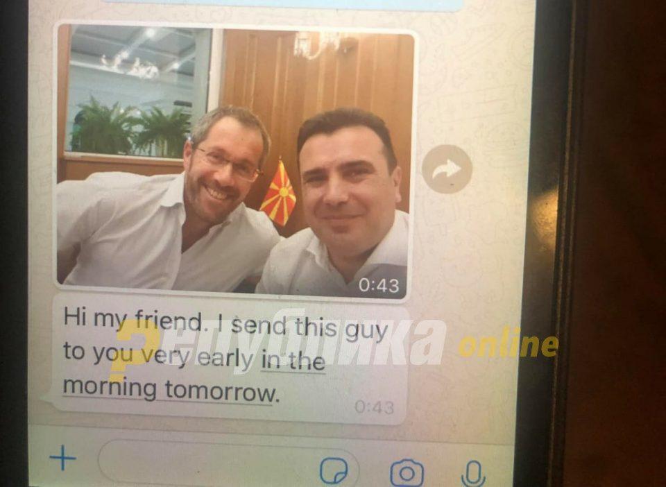 Објавени пораки меѓу Заев и руските комичари: Премиерот се среќавал со човекот кој ја урна владата на Курц