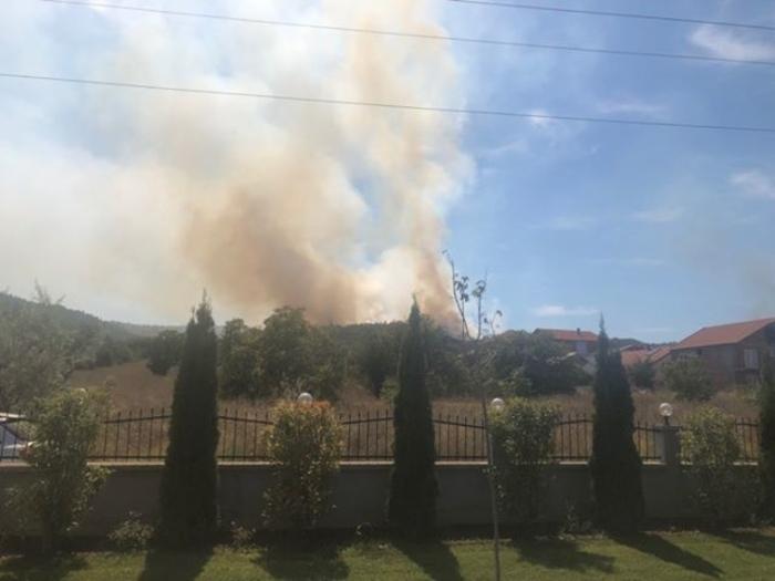 Голем пожар над Пинтија – куќите во опасност