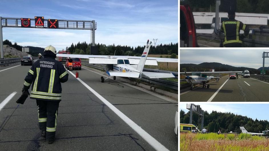 Како од филмска сцена: Авион принудно слетал на автопатот Загреб-Риека