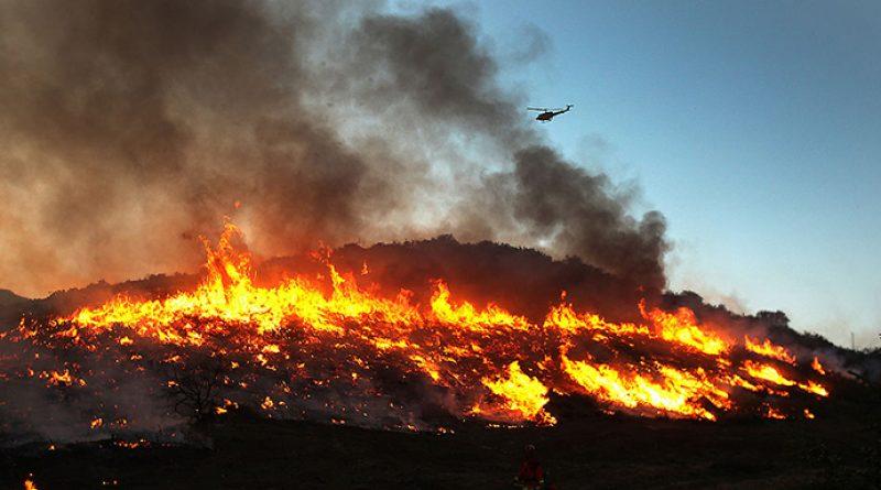 Пожар во охридско, чадот се шири накај Охрид