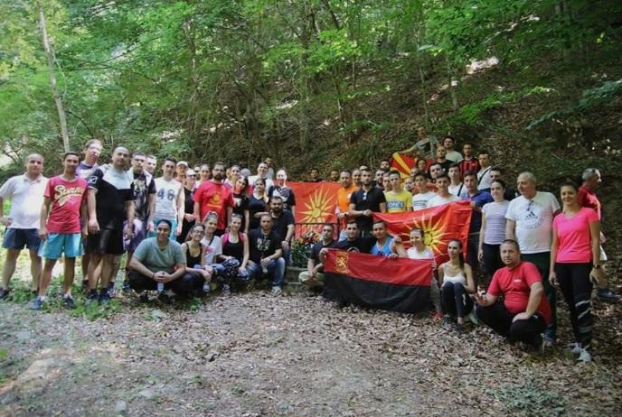Mарш на УМС на ВМРО-ДПМНЕ во чест на петте струмички студенти