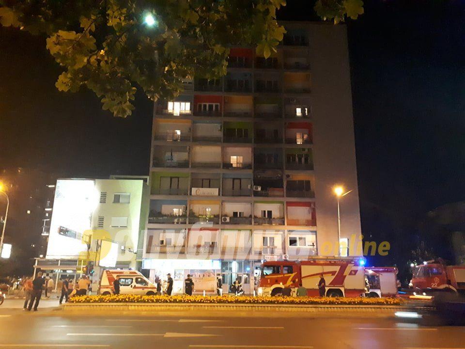 Детали за пожарот во зградата во Скопје