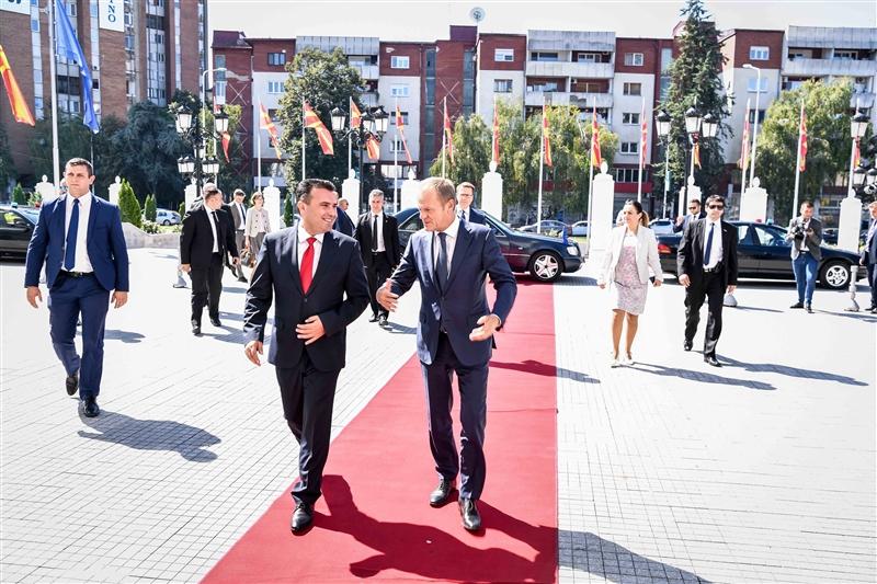 ВО ЖИВО: Прес-конференција на Заев и Туск