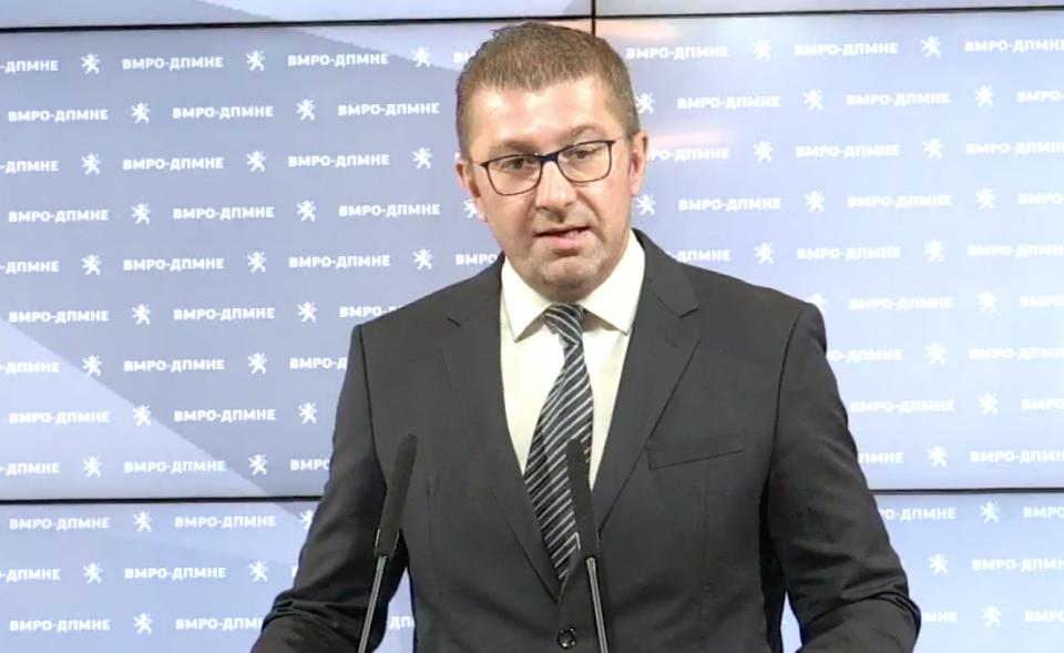Мицкоски: Главната борба на Заев беше да се спаси од одговорност за криминалите на власта