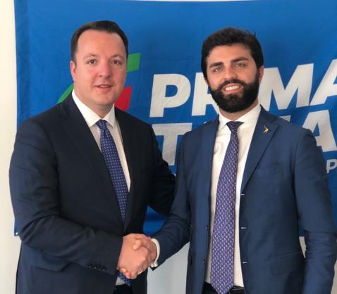 (ФОТО) Николоски на средба со Зани од партијата на Салвини: Продлабочување на соработката меѓу ВМРО-ДПМНЕ и Лега