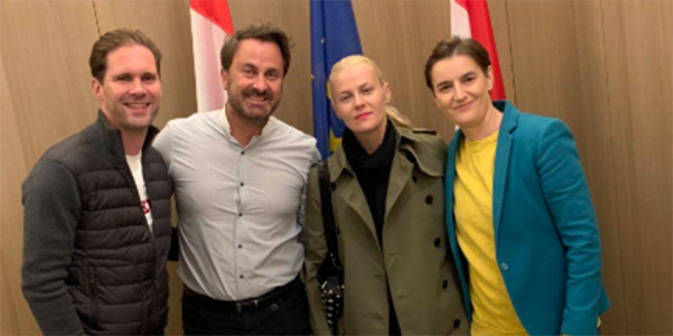 (ФОТО) Брнабиќ и партнерка во посета на премиерот на Луксембург и неговиот сопруг