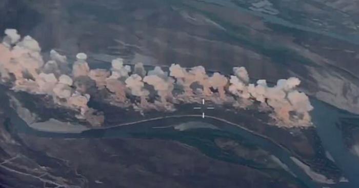 (ВИДЕО) Американците разнесоа цел остров со џихадисти со 40 тони бомби