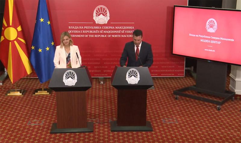ВО ЖИВО: Прес-конференција на премиерот Заев и Нина Групер