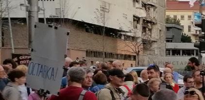 """Пред српската Влада протест """"Новинари против фантоми"""""""