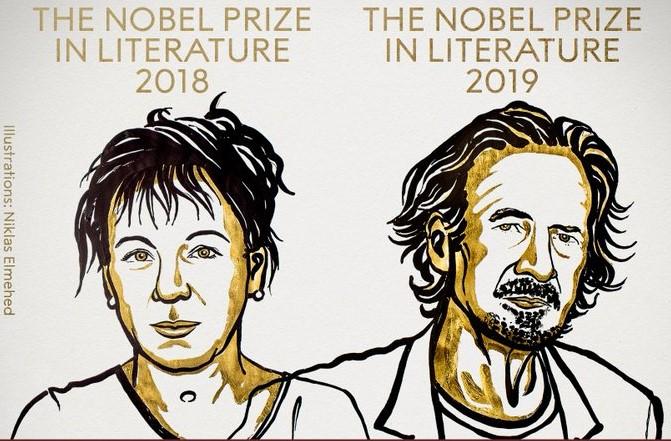 Прогласени добитниците на Нобелова награда за литература за 2018 и 2019 година