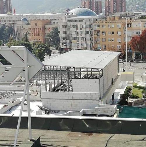 (ФОТО) Наместо зеленило, никна бетонска конструкција над ГТЦ