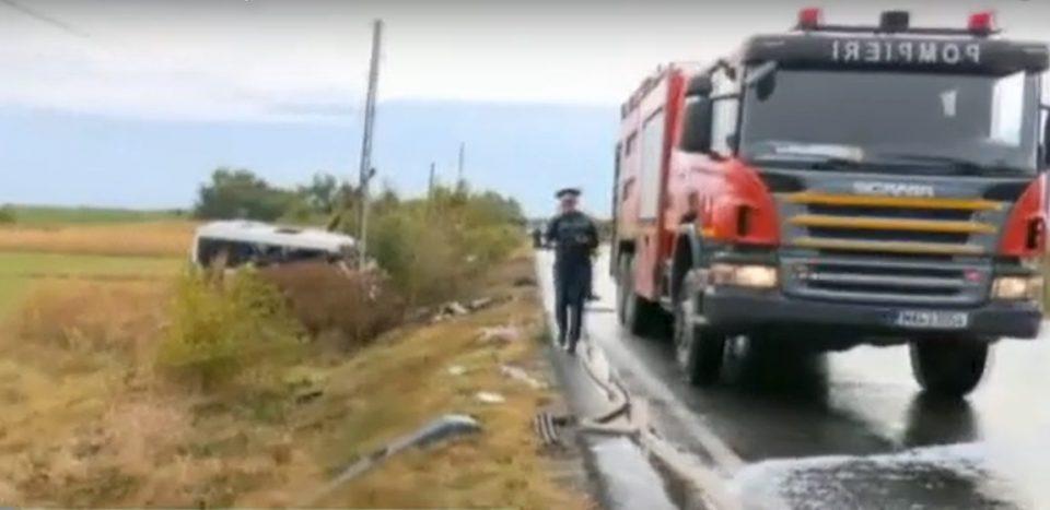Десетмина загинати во сообраќајка во Романија (ВИДЕО)
