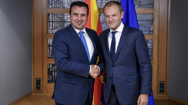 Заев – Туск: Северна Македонија ги исполни сите услови за преговори
