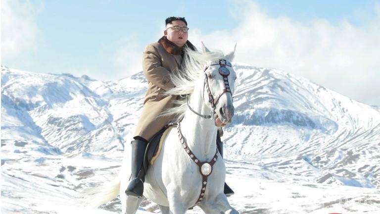 Ким Јонг Ун се појави на бел коњ (ФОТО)