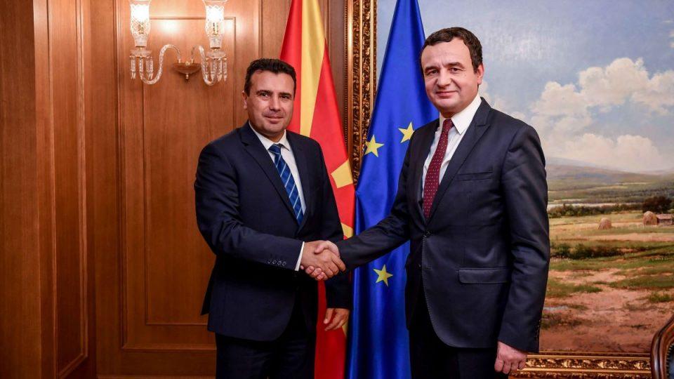 """Заев го прими лидерот на """"Самоопределување"""" од Косово Албин Курти"""