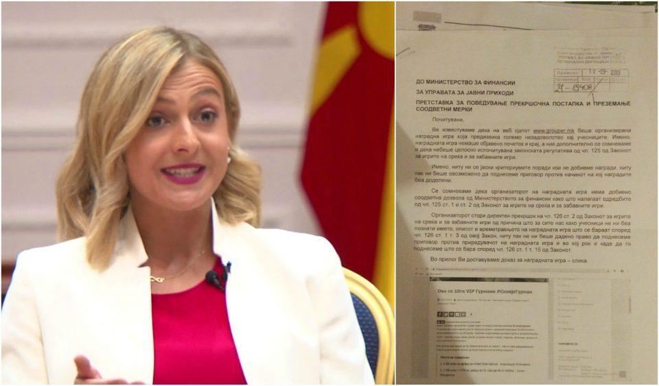 (ДОКУМЕНТ) СКАНДАЛ: Фирмата на Нина Ангеловска противзаконски организирала игри на среќа!
