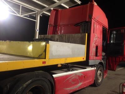 (ВИДЕО)100 килограми марихуана  најдени во камион на Табановце
