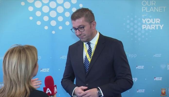 Мицкоски: Владата во заминување измислува лажни вести, Гоце Делчев е Македонец и имаме македонски јазик
