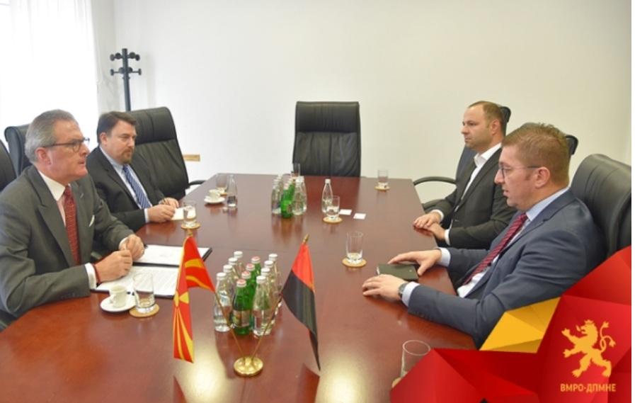 Мицкоски се сретна со шефот на мисијата на ОБСЕ