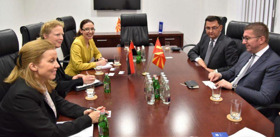 Мицкоски оствари средба со претставници на ММФ