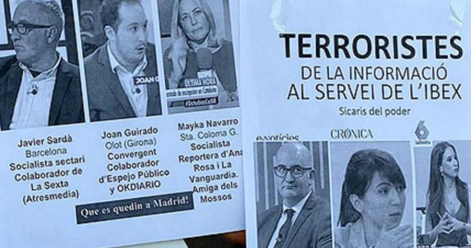 Во Шпанија новинарите од Каталонија се наречени терористи