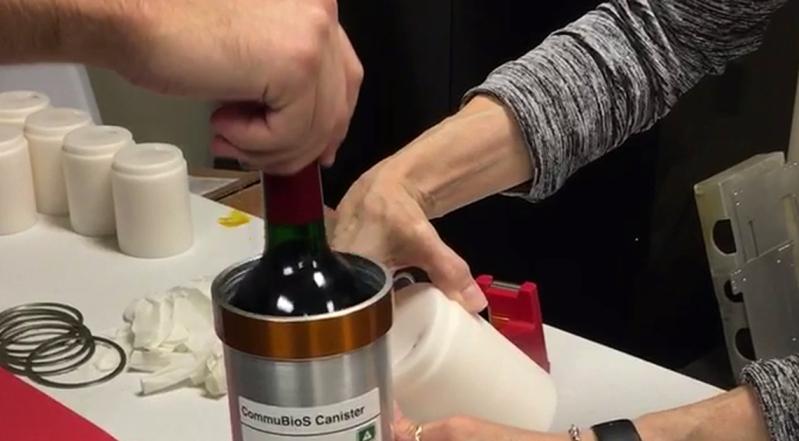 Вино испратено во Вселената заради научни истражувања