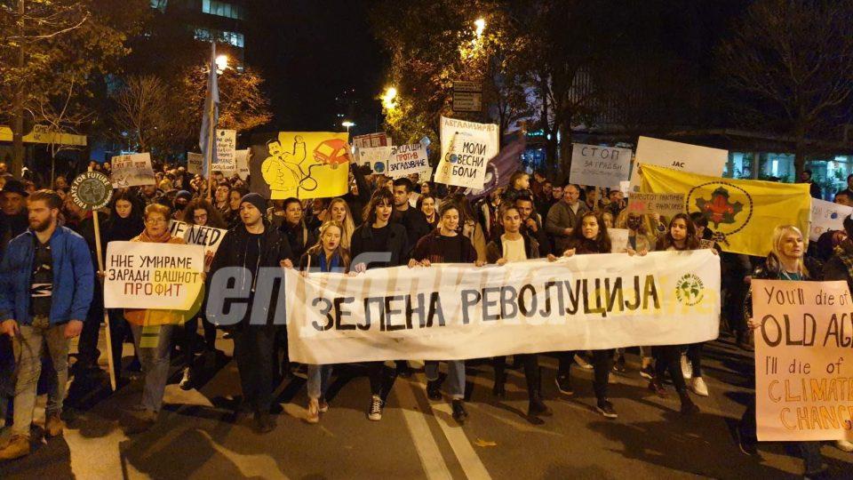 Скопјани масовно побараа чист воздух во градот