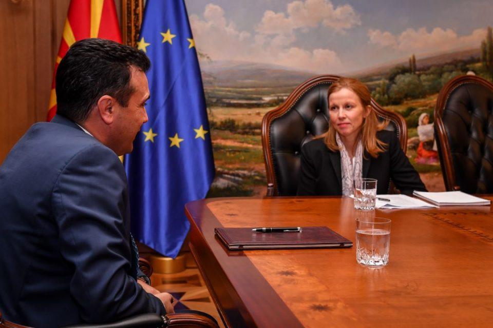 Заев се сретна со шефицата на мисијата на ММФ: Силен економски контекст за развој