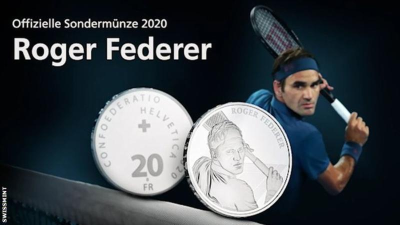 Роџер Федерер стана првиот жив човек чиј лик ќе се најде на швајцарска монета