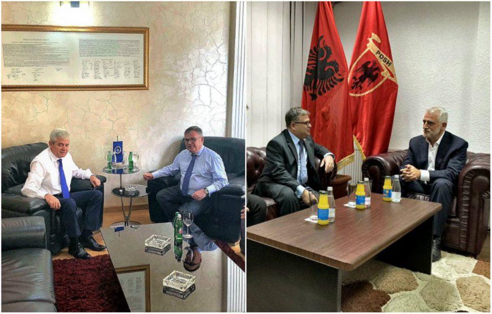 Францускиот амбасадор Тимоние се сретна со лидерите на ДУИ и ДПА