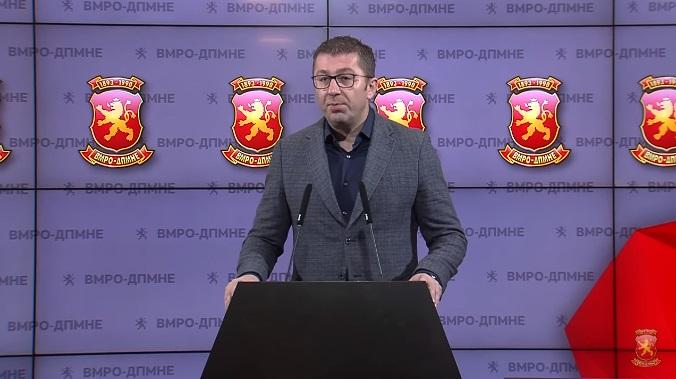 Мицкоски: Пратениците на ВМРО-ДПМНЕ ќе поднесат иницијатива за ратификување на протоколот за НАТО со одложено дејство