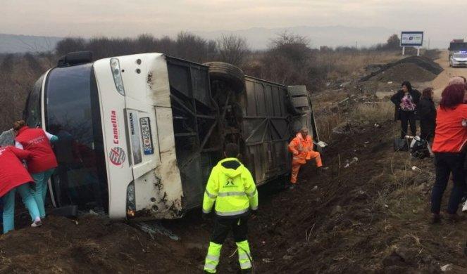 Најнови детали за превртениот македонски автобус во Србија: Еден тешко повреден, единаесет полесно