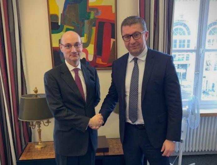 Мицкоски се сретна со директорот за Европа во француското Министерство за Европа, Мондолини