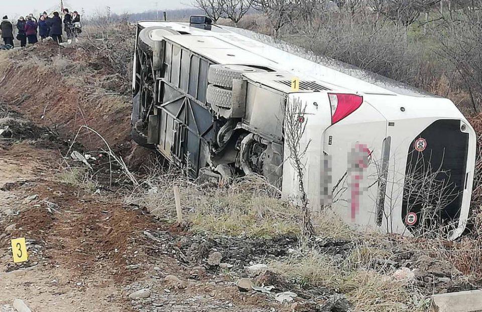 МНР: Повредени 26 лица во сообраќајката  на македонски автобус во Србија