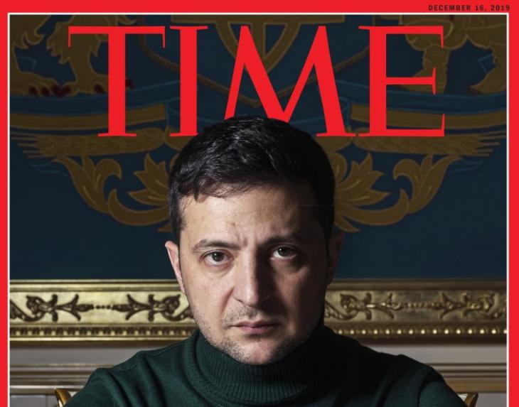 """Зеленски е првиот украински претседател кој се најде на насловната страница на """"Тајм"""""""