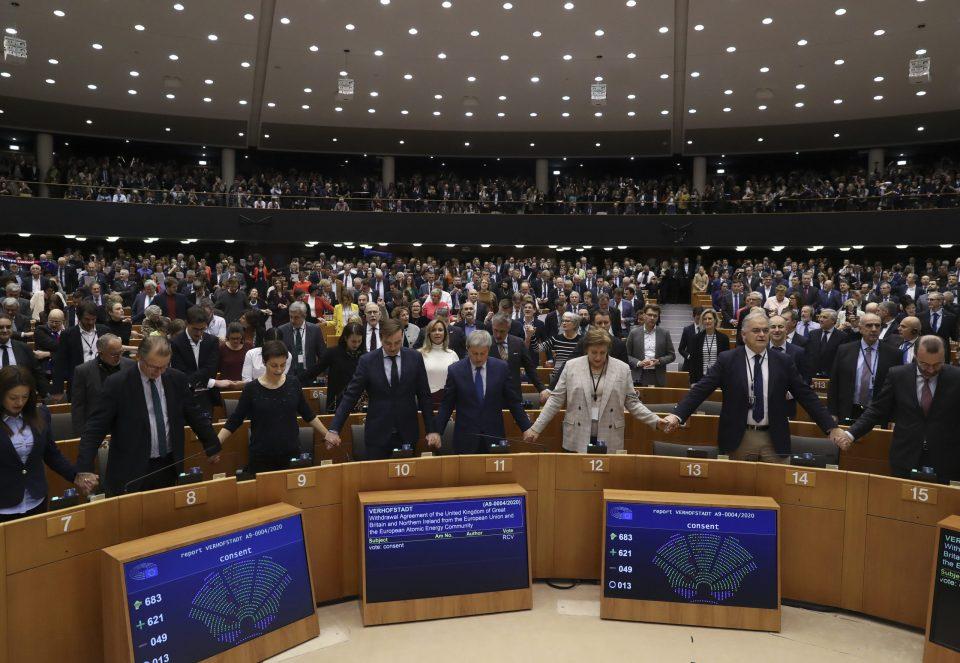 Европскиот парламент го поддржа договорот за излез на Велика Британија од ЕУ