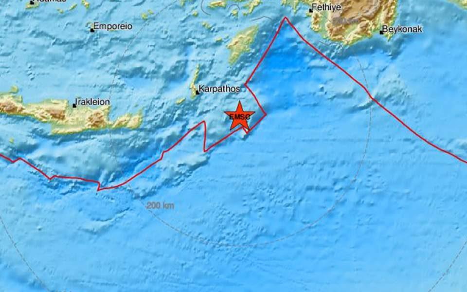 Земјотрес кај грчкиот остров Карпатос