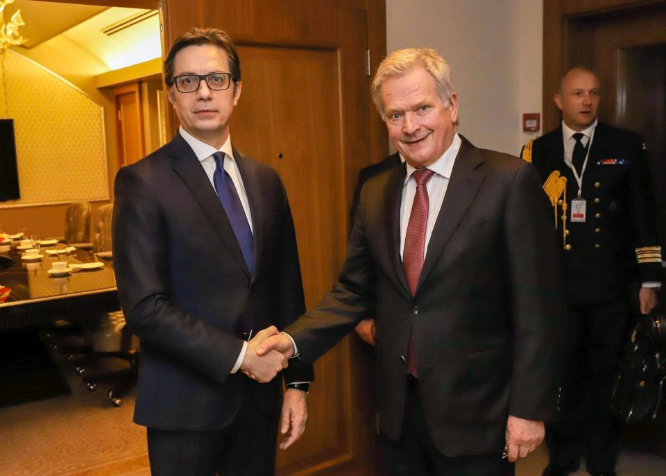 Пендаровски се сретна со колегите од Финска, Кипар и Грузијаво Израел