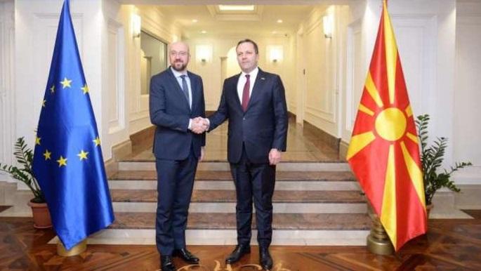 Претседателот на Европскиот Совет, Мишел: Иднината на Македонија е во ЕУ