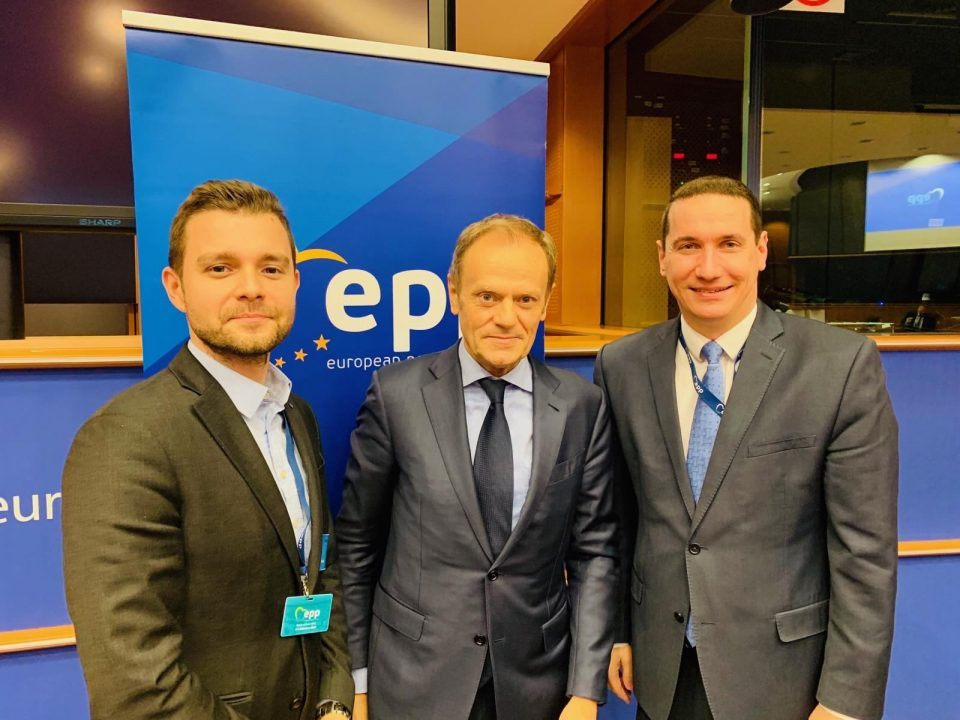 Ѓорчев и Муцунски на средба со Туск: СДСМ врши притисок да ги одложи изборите