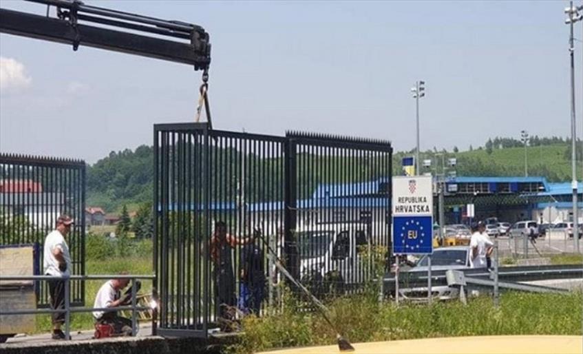 Хрватска денеска постави ограда на границата со БиХ