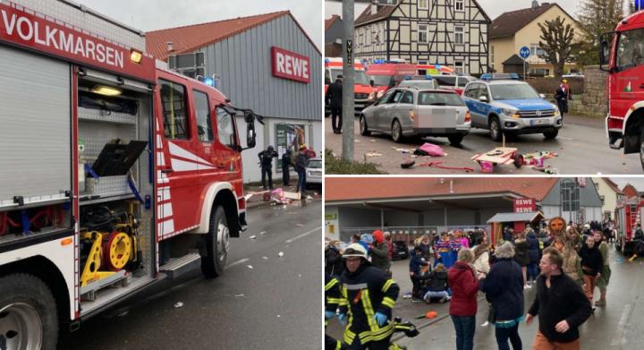 Aвтомобил влетал во карневалска поворка во Германија: Повредени најмалку 18 деца