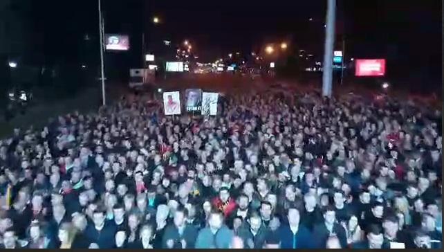 (ВИДЕО) Еве колку луѓе излегоа на маршот на ВМРО-ДПМНЕ