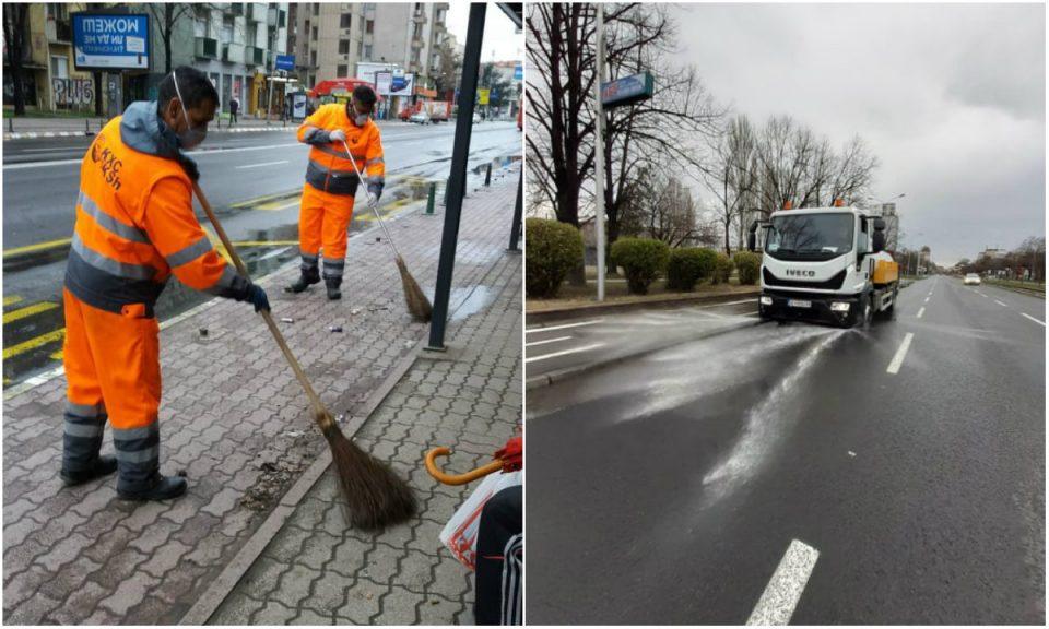 Интензивно се мијат булеварите и улиците
