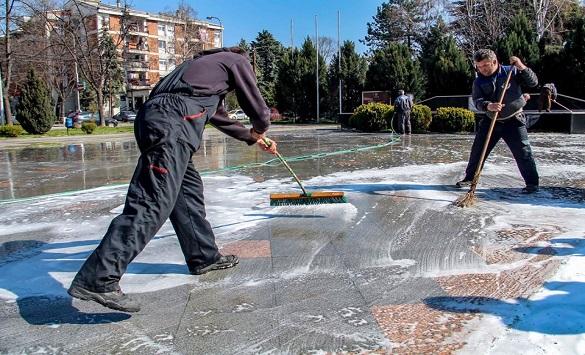 Во оштина Гази Баба се дезинфицираат јавните површини и објекти