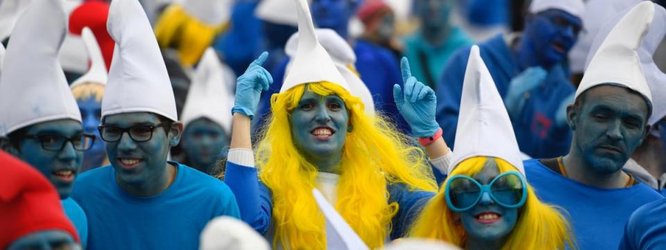 Соборен светски рекорд за најголем собир на Штрумфови во Париз
