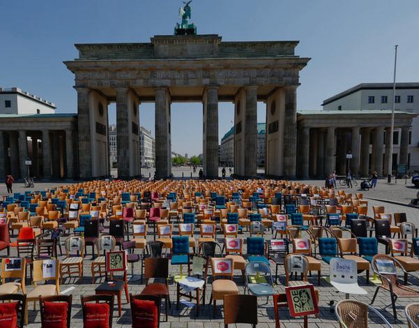 """Протест на """"празни столчиња"""" во Берлин"""