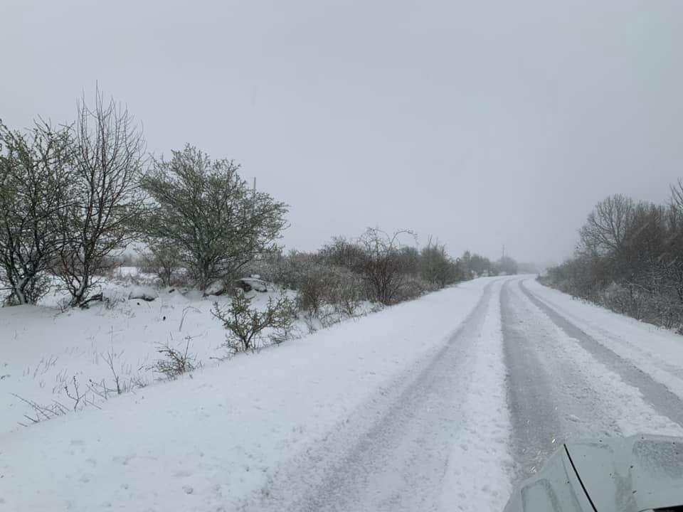 Снег во Лазарополе, Маврово, Дебар, Крушево и Берово