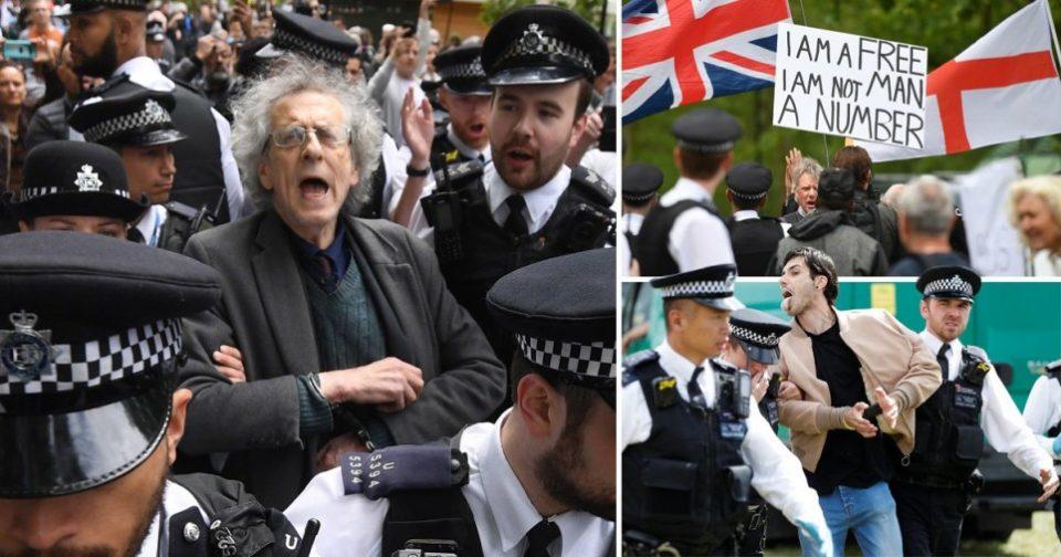 Корона протест во Лондон, меѓу уапсените и братот на Џереми Корбин екс лидерот на лабористите